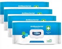 DeepFresh Desinfektionstücher Feuchttücher Reinigungstücher- 4 Flowpack à 100 Tücher