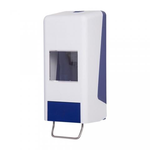 Handwaschpastenspender Softflaschenspender für 1 od. 2 L Kartuschen-blau-weiss