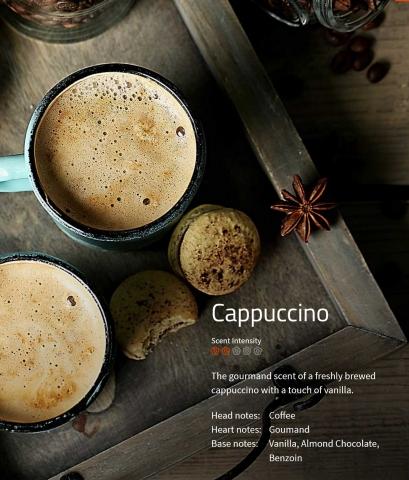 Cappuccino ** Aromaöl für Duftmarketing  Ein Duft für Gourmets – starker Kaffee und intensive Vanille