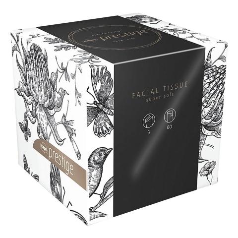 Kosmetiktücher Cube-Prestige, 3-lagig, 60 Blatt