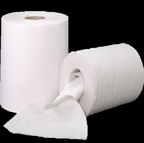Reinigungsrolle Handtuchrolle 1-lg 22g/m² 20cm x 300 m 6 Rollen Universelles, 1-lagiges Reinigungspapier für Fitnessstudio, Solarium, Garage, Küche und Unterhalt