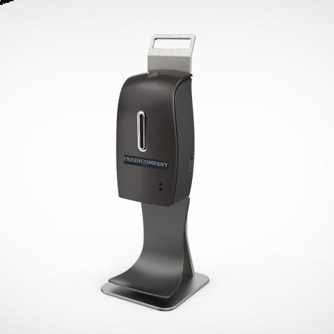 Desinfektionsmittelspender Sensor Automatik 600ml mit Auffangschale für berührungslose Spray Ausgabe Tischmodell schwarz
