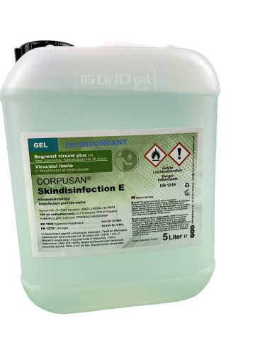 Hand Desinfektion CORPUSAN® Skindisinfection E Begrenzt Viruzid Plus  5 Liter Gel