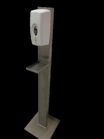 Desinfektionsspender Spray automatic Non Touch auf Edelstahl Bodenständer