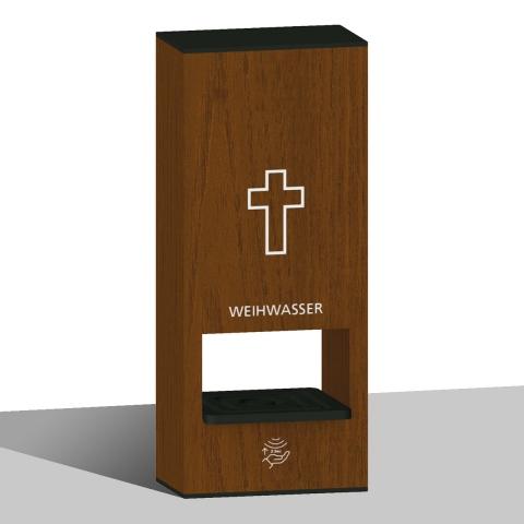 Weihwasser-Tischspender Dunkel mit Sensor für Berührungslose Weihwasser Ausgabe