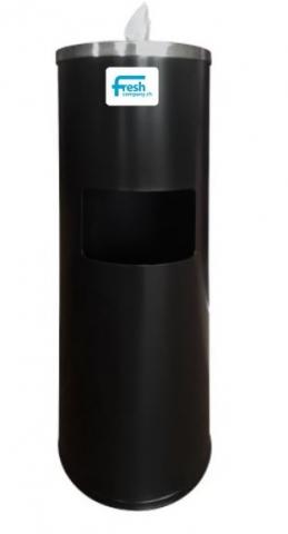 Wet Wipe Edelstahl Standspender All-in-One farbig-schwarz