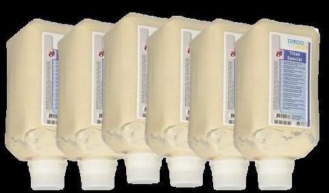 Handwaschpaste Grobreiniger Handreiniger Titan Spezial für 6 x 2 Liter