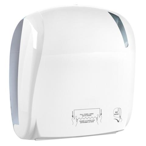 Handtuchpapierspender mit AUTOMATISCHEM SCHNITT /Autocut für Papierhandtuchrollen – maximale Rollengröße Ø mm 190 x220 ohne Strom/Batterien