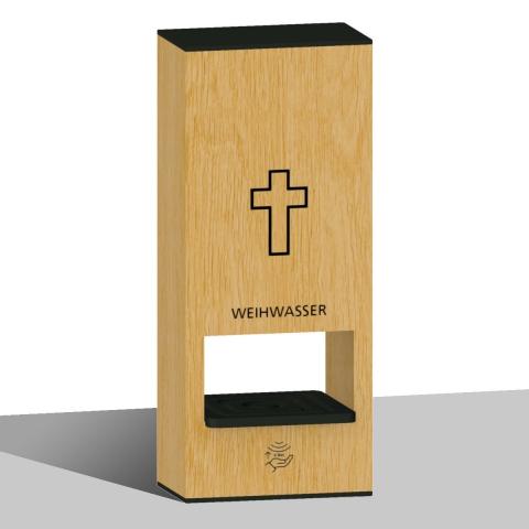 Weihwasser-Tischspender Hell mit Sensor für Berührungslose Weihwasser Ausgabe