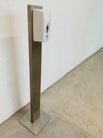 Desinfektionsmittelspender Sensor non touch automatic mit Edelstahl Bodenständer