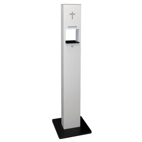Weihwasser-Standspender mit 1 Liter Sensorspender berührungslose Ausgabe des Weihwassers weiss