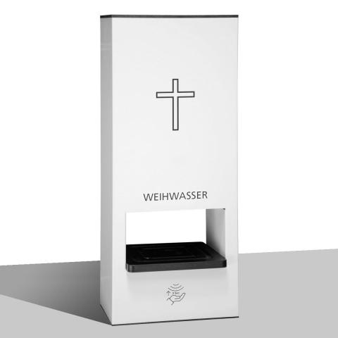 Weihwasser- Tischspender Ausgabe des Weihwassers über berührungslosen Sensorspender!