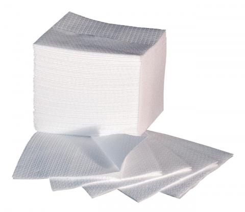 Wischtücher Vlies 70 gr weiß, gefaltet Z-Falz, Tuchformat 32 x 36 cm