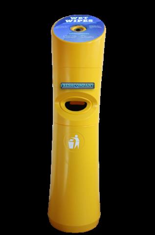 Wet Wipe Standspender Desinfektionstuchspender Gelb