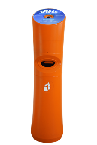 Wet Wipe Standspender orange