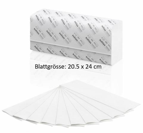 Z-Falz Handtuchpapier Satino Prestige, 20.5 x 24cm 2-lagig 3'750 Blatt