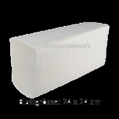 Papierhandtücher Z-Falz 2-lagig Recycling. Grösse: 24 x 24 cm, 3'750 Blatt