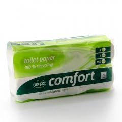 WC-Papier Toilettenpapier Wepa Comfort 3-lagig 9 x 8 Rollen