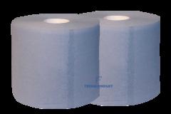 Reinigungsrollen-blau 3-lagig  2 x 500 Blatt