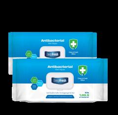 DeepFresh Desinfektionstücher Feuchttücher Reinigungstücher- 2 Flowpack à 100 Tücher