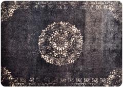 Fussmatte Orient Style schwarz rutschfest und waschbar Schmutzfangmatte Bodenschutzmatte 75 x 115 cm
