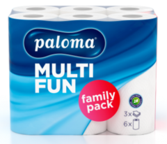 Küchenrollen Haushaltpapier Paloma Family 3-lagig 51 Blatt