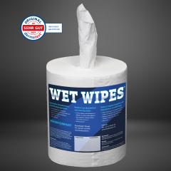 Wet Wipes 620 alkoholfreie Desinfektionstücher für alle Oberflächen 1 Rolle